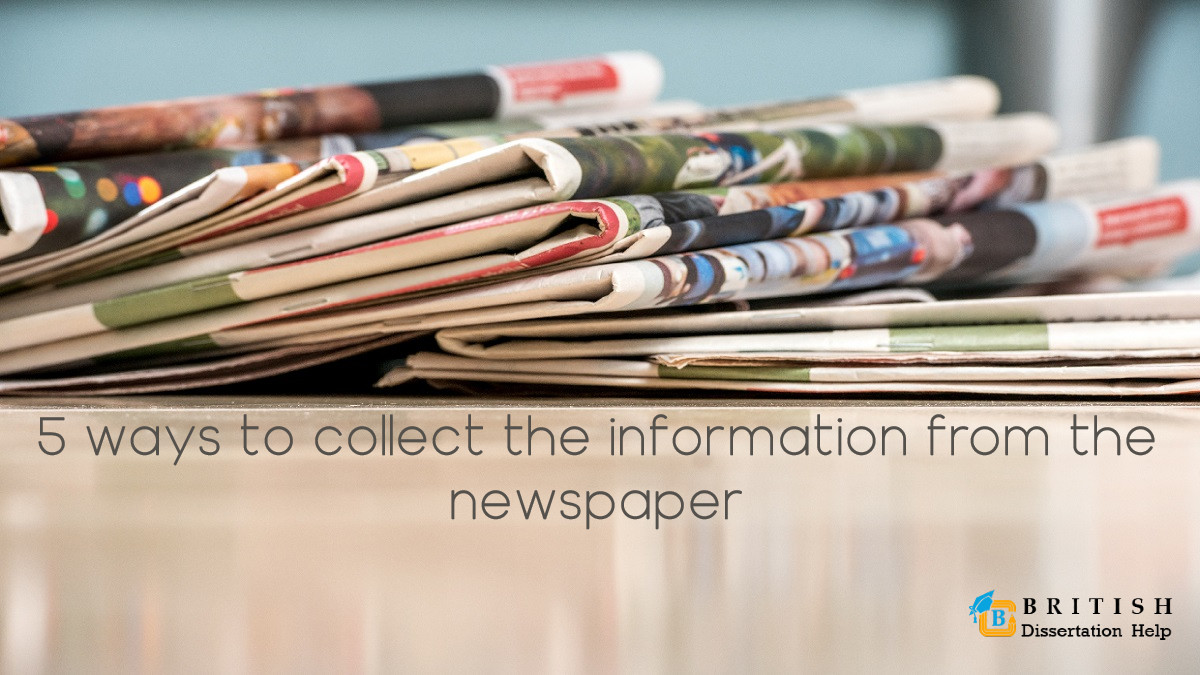 5 ways to collect the information from the newspaper